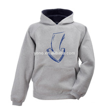 100% cotton plain no zipper hoodie jacket